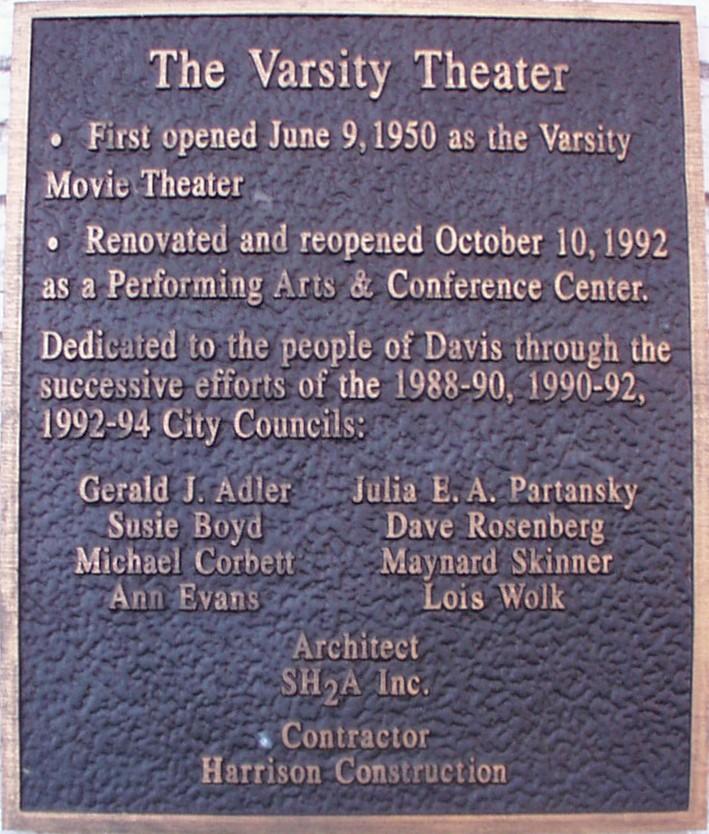 Varsity Plaque